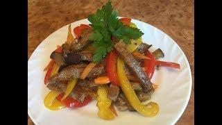 Любителям остренького посвящается! Салат мясной с овощами!