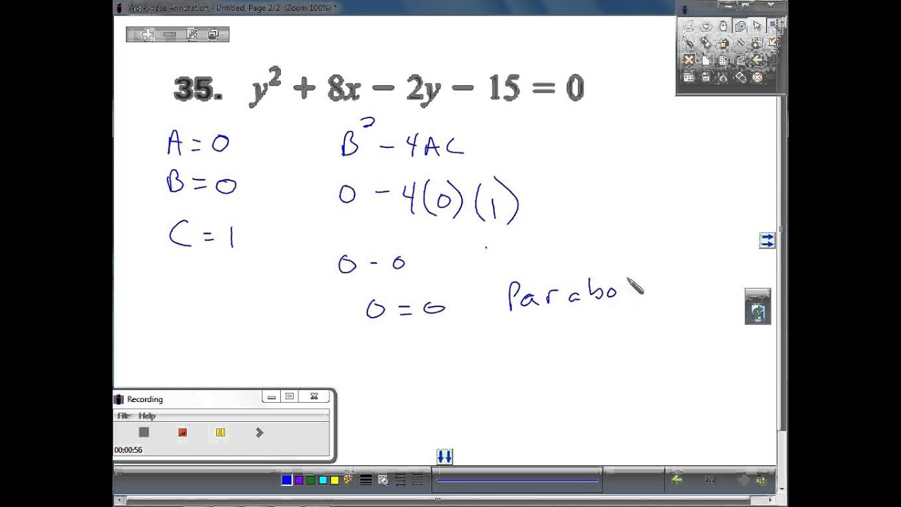 Classify the conic and write the equation in standard form 35 classify the conic and write the equation in standard form 35 falaconquin
