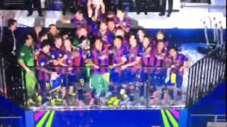 تتويج الأبطال برشلونة بطل أوربا 2015