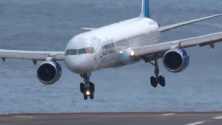 HORRIBLE || Very Awful landings | IMPRESSIVE Go arounds B753 A320 B737 || Madeira
