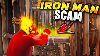 *NEW SCAM* The IRON-MAN Scam! (Scammer Gets Scammed) In Fortnite Save The World Pve