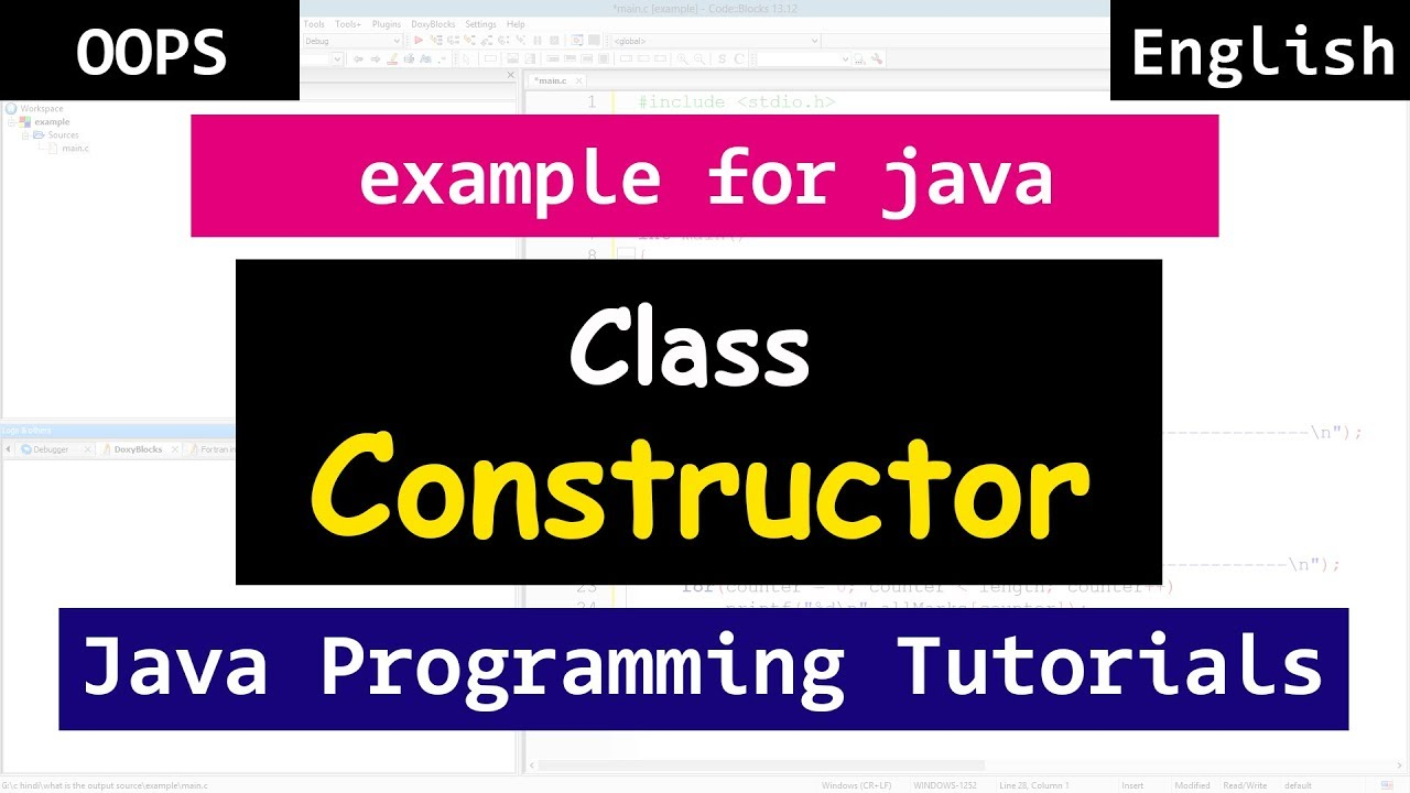Class constructors with example java object oriented tutorials class constructors with example java object oriented tutorials for beginners baditri Image collections