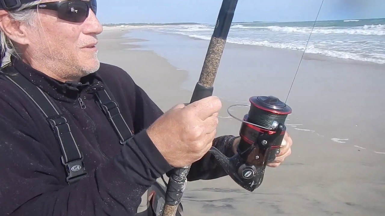 Epic outer banks red drum fishing in the surf different for Drum fishing rigs