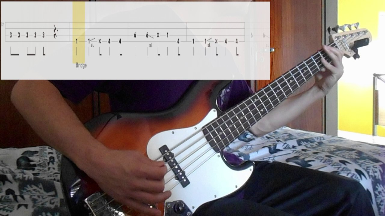 Boulevard Of Broken Dreams Green Day Bass Cover With Tabs