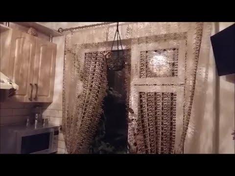 Вязание крючком шторы на кухню