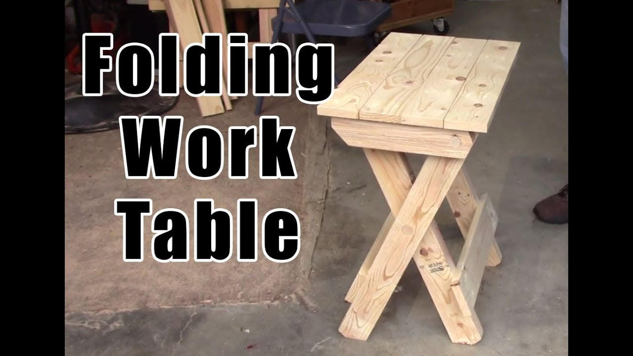 diy how to build a folding work table youtube. Black Bedroom Furniture Sets. Home Design Ideas