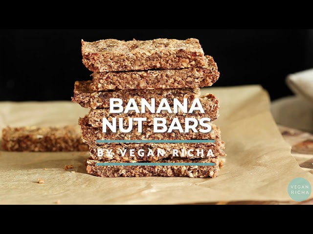 VEGAN CARAMELIZED BANANA GRANOLA BARS gf no refined sugar | Vegan Richa Recipes