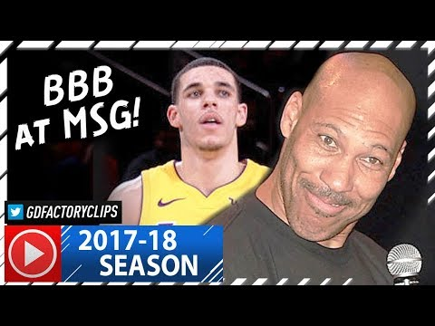Download Youtube: Lonzo Ball Full Highlights vs Knicks (2017.12.12) - 17 Pts, 8 Reb, 6 Ast, LAVAR WATCHING!