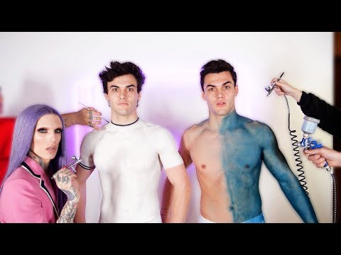 Wearing ONLY Body Paint For A Day! Ft. Jeffree Star