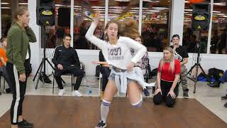"Финал Dancehall Beginners Olyusya_zet  vs Чухлеб ""Метр с кепкой"" dance battle"