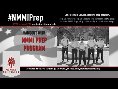 Hangout with NMMI Prep Program
