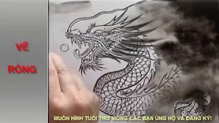 DẠY VẼ CON RỒNG - VẼ RỒNG THỦY MẶC - DRAWING DRAGON