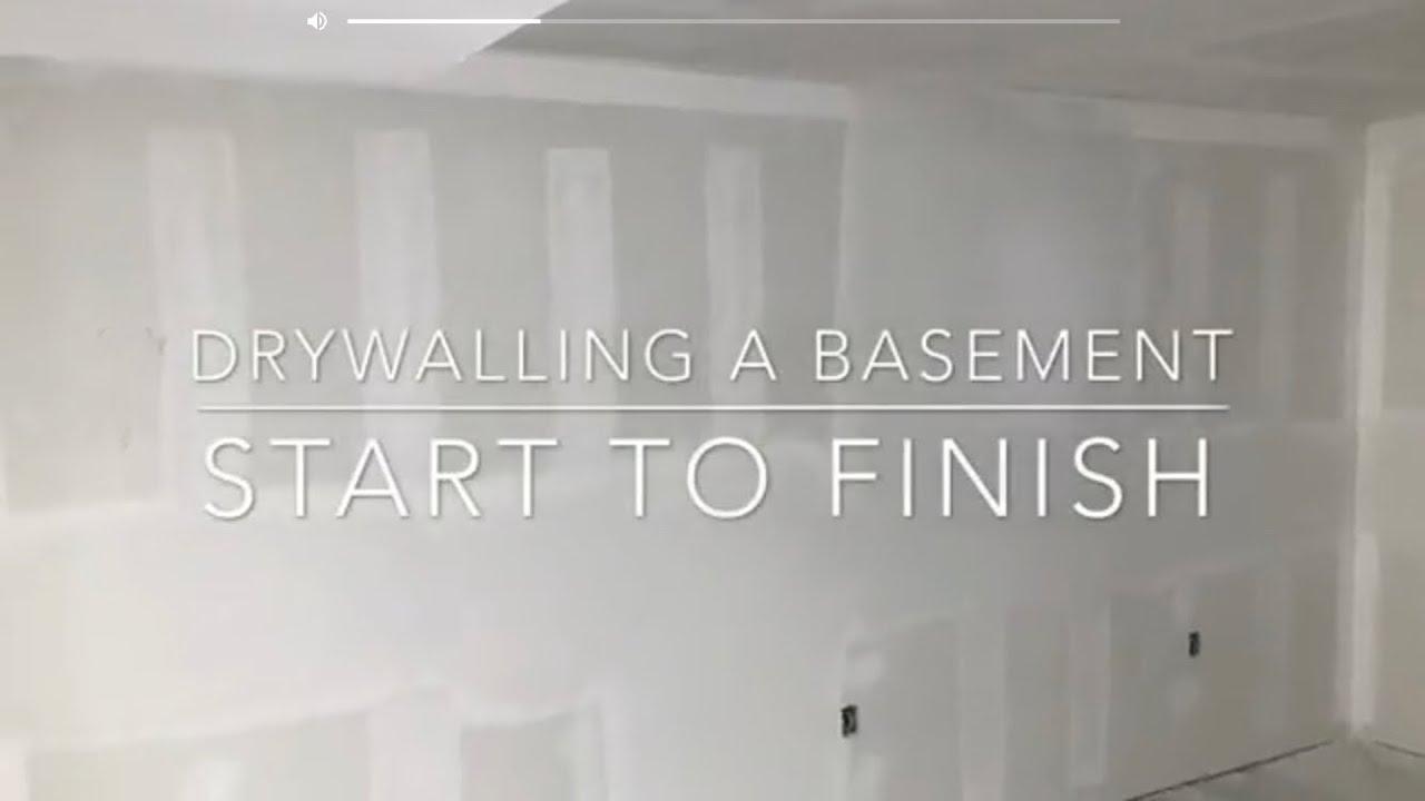 Drywalling a Basement - Start to Finish & Drywalling a Basement - Start to Finish - YouTube