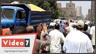 مسيرة لعناصر جماعة الإخوان من مسجد توحيد المعسكر بالمطرية
