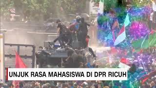 Momen Mencekam Saat Water Cannon-Mobil RAISA Polisi di Gedung DPR Dirusak Massa