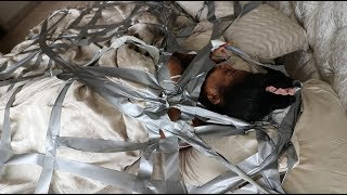 DUCT TAPE PRANK ON SLEEPING GIRLFRIEND!!! (GONE WRONG)