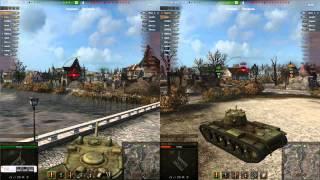 World of Tanks Split Screen