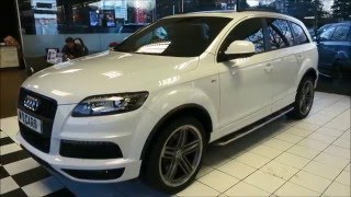 audi q7 s line plus white panoramic sunroof bose sound system wimbledon specialist cars