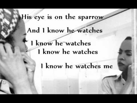 His Eye Is On The Sparrow [Instrumental] with lyrics