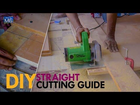 DIY Circular Saw Cutting Guide for Straight Cut   Simple Wood Working Tricks