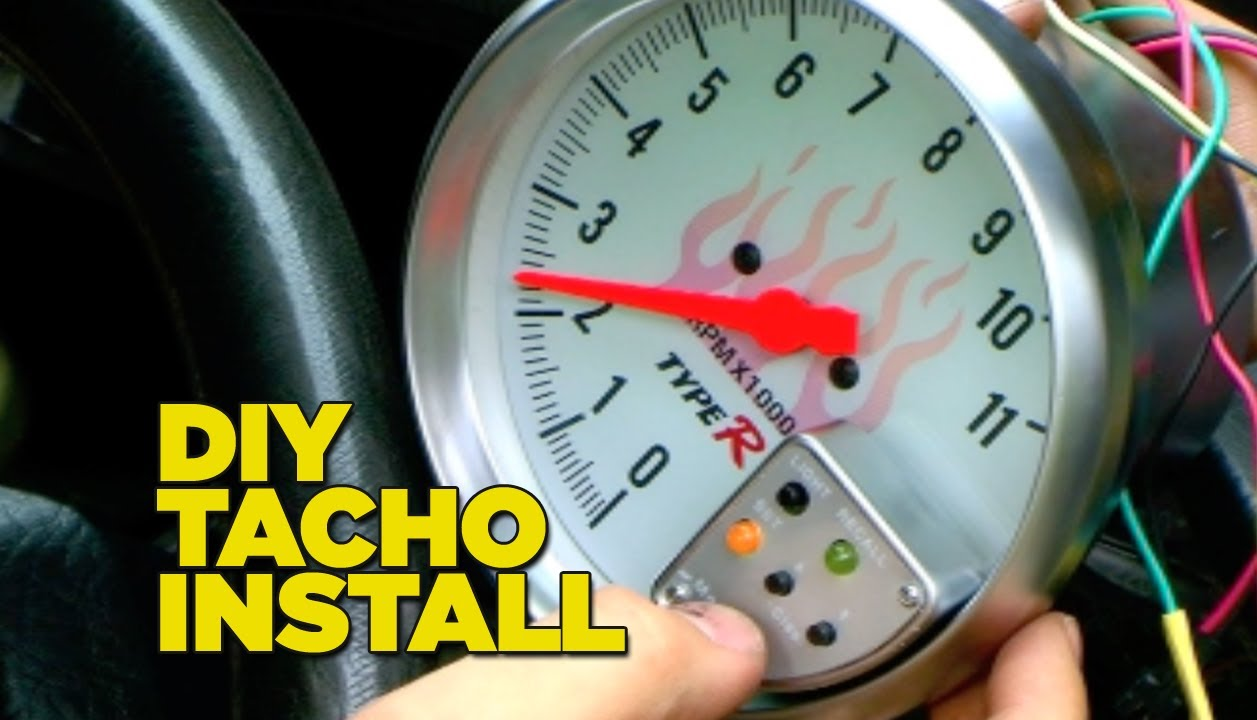 maxresdefault how to install a tacho gauge youtube aftermarket tachometer wiring diagram at virtualis.co
