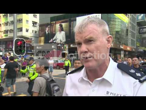 HONG KONG: POLICE CLEAR PROTEST SITE