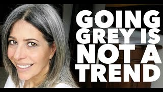 Going grey is NOT A TREND | Rocking Fashion & Life in my 50's