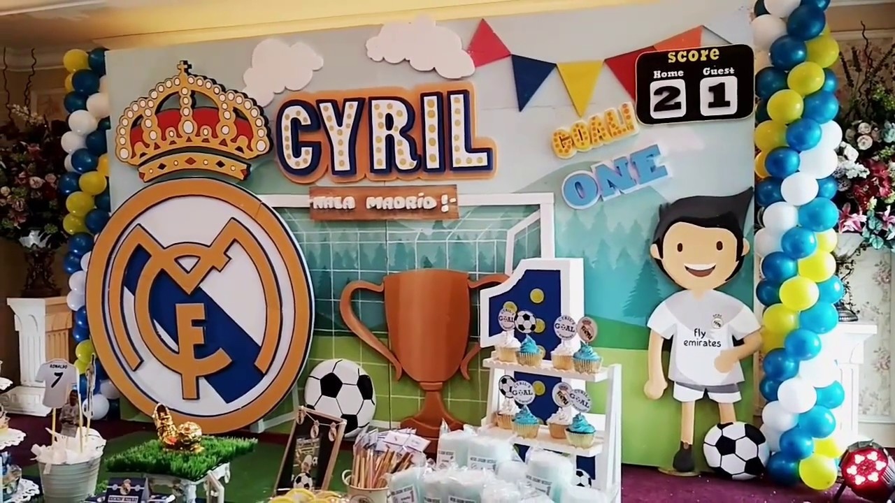 Real Madrid Birthday Theme Decoration
