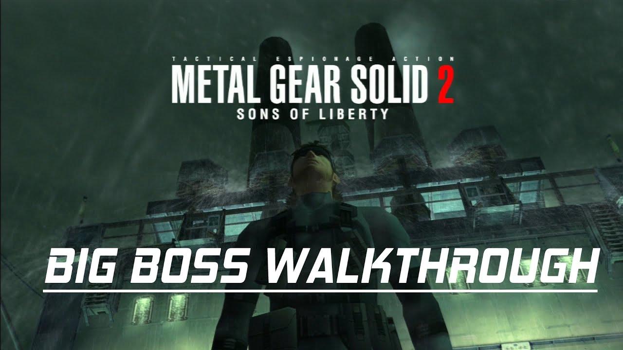 Metal Gear Solid 2 Big Boss Rank Walkthrough No Commentary