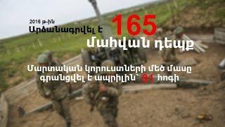 165 զոհ մեկ տարում  Հայկական զինուժի կորուստները 2016 թվականին