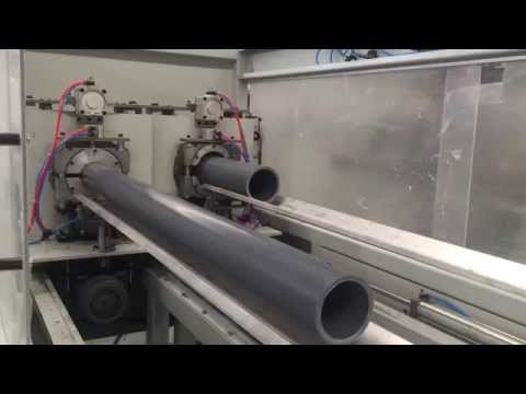 Производство ПВХ трубы 110-160мм в 2 ручья