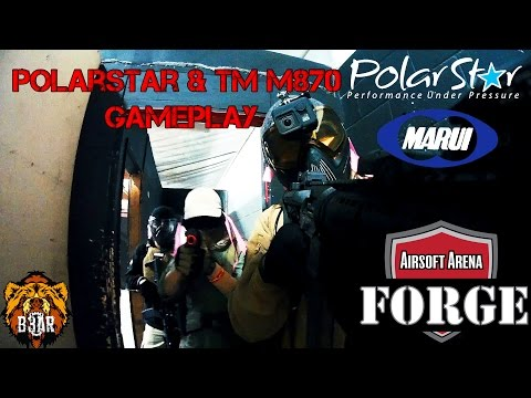 Tokyo Marui M870 & Polarstar Compilation! from YouTube · Duration:  1 minutes 57 seconds