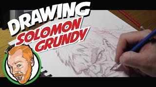Paul Ainsworth drawing Solomon Grundy