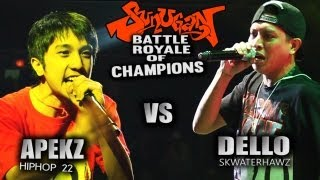 Repeat youtube video SUNUGAN BATTLE ROYALE of CHAMPIONS DELLO vs APEKZ vs RIGHTEOUS ONE
