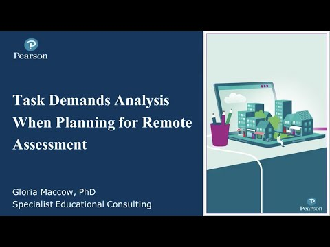 Task Demand Analysis When Planning For Remote Assessment