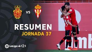 Resumen de RCD Mallorca vs Real Sporting (2-1)