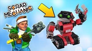 ЛУЧШИЕ БОИ РОБОТОВ в Scrap Mechanic !!!