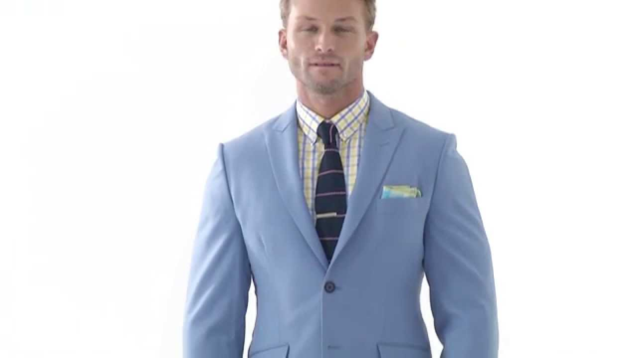 2 piece light-blue tailor made mens suit - YouTube
