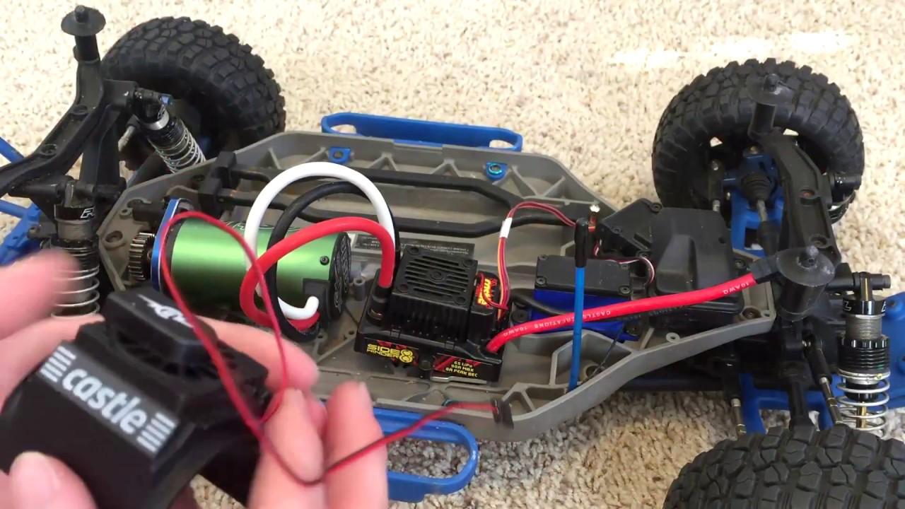 100MPH Slash 4x4 Build #7 Castle Creations motor fan, ESC Mount, and Spur  Gear