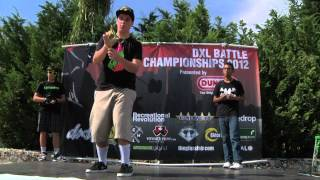 DXL BATTLE 2012 Pro Division Elimination Round Alex Hattori vs Anthony Rojas vs Paolo Bueno