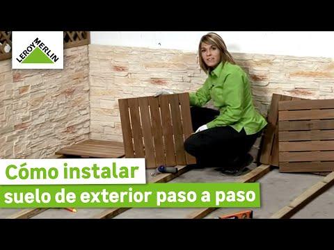 Cómo instalar un suelo de exterior (Leroy Merlin)