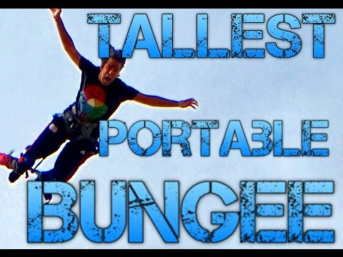 TALLEST PORTABLE BUNGEE JUMP IN USA!!! Amazing must watch! Arizona State Fair