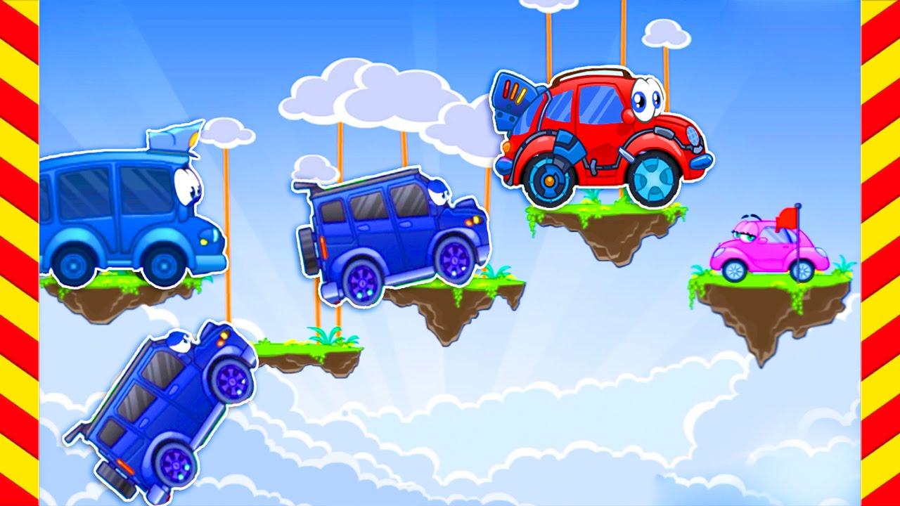 Машинка Вилли 1 прохождение игры. Мультфильм про летающие ...