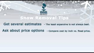 BBB Snow Removal Tips