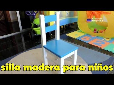 C mo hacer una silla de madera para ni os youtube for Sillas para que los bebes aprendan a sentarse