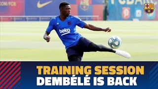 TRAINING SESSION | Dembélé is back ahead of LaLiga match against Villarreal