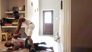 """""""I GOT BEAT UP"""" PRANK ON TREY AND QUEEN!!!"""