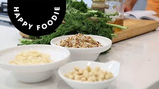 Superfood Kale Salad With Tahini Dressing | The Happy Pear