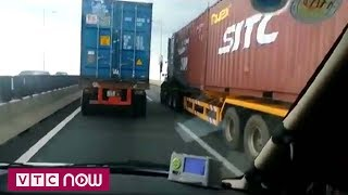 Xe container không thể đột ngột về 0 km/h trên cao tốc