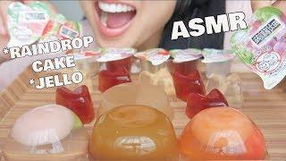 ASMR Mizu Shingen Mochi AKA Raindrop CAKE + Jello (RELAXING EATING SOUNDS) NO TALKING | SAS-ASMR